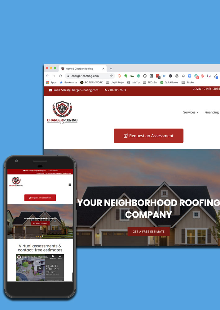 Charger Roofing WordPress Website