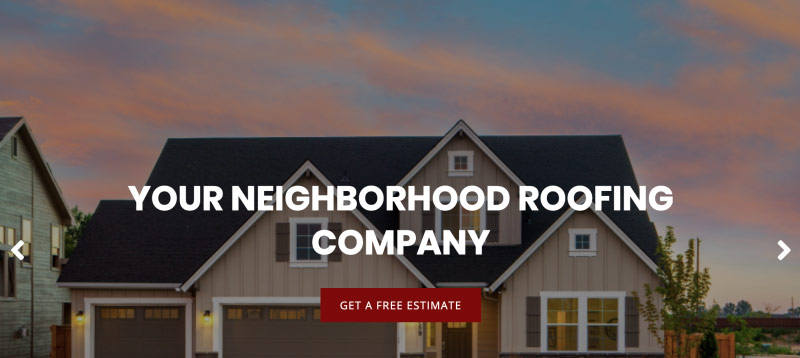 Charger Roofing website