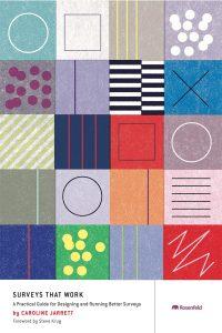Surveys that Work book by Caroline Jarrett cover - Patchwork quilt